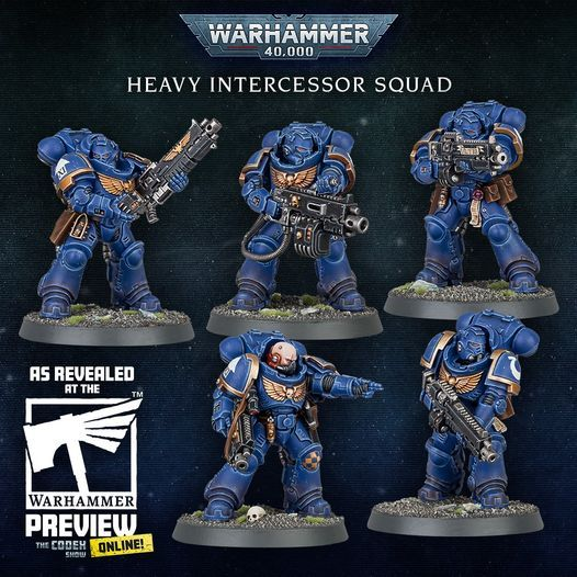 Warhammer 40,000 Space Marines Primaris Heavy Intercessor Squad