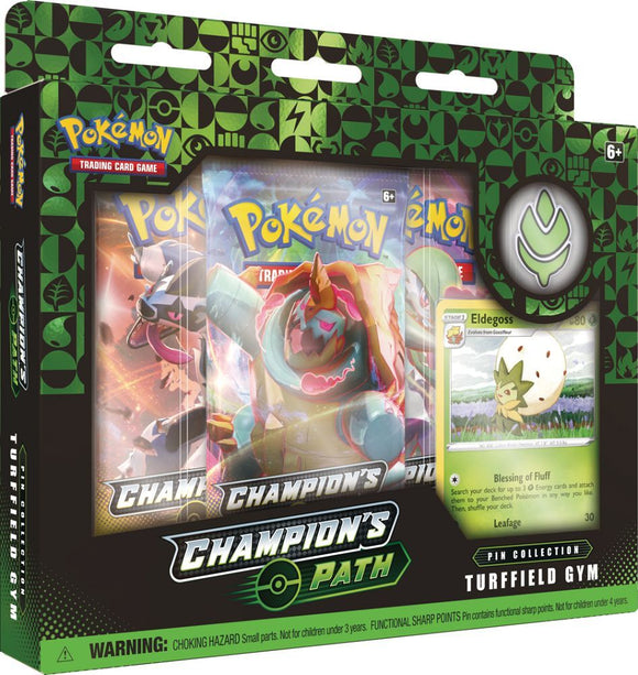 Pokemon TCG Champion's Path Pin Collection Turffield Gym