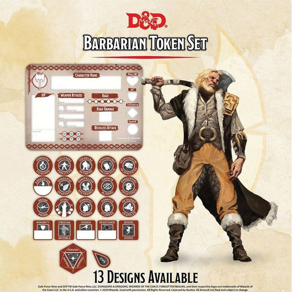 D&D Barbarian Token Set