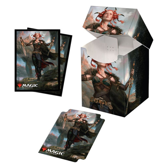 Ultra Pro Deck Box and 100ct Standard Card Sleeve Combo Magic the Gathering Commander Legends Jeska, Thrice Reborn (18468)