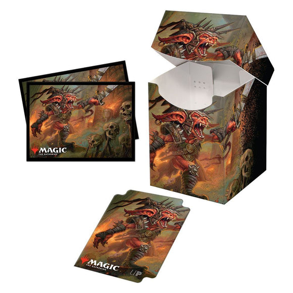Ultra Pro Deck Box and 100ct Standard Card Sleeve Combo Magic the Gathering Commander Legends Rograkh, Son of Rohgahh (18471)