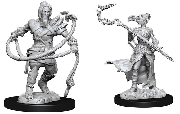 Magic the Gathering Unpainted Miniatures: Stoneforge Mystic & Kor Hookmaster (Fighter, Rogue, Wizard) (90177)