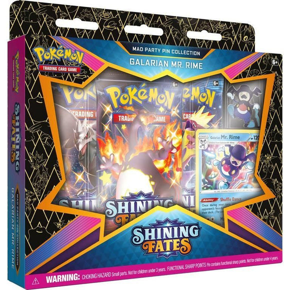Pokemon TCG Shining Fates Mad Party Pin Collection - Galarian Mr. Rime