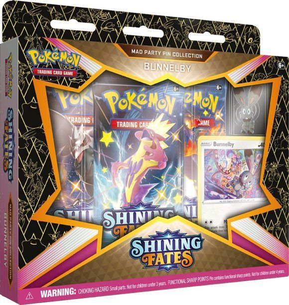 Pokemon TCG Shining Fates Mad Party Pin Collection - Bunnelby