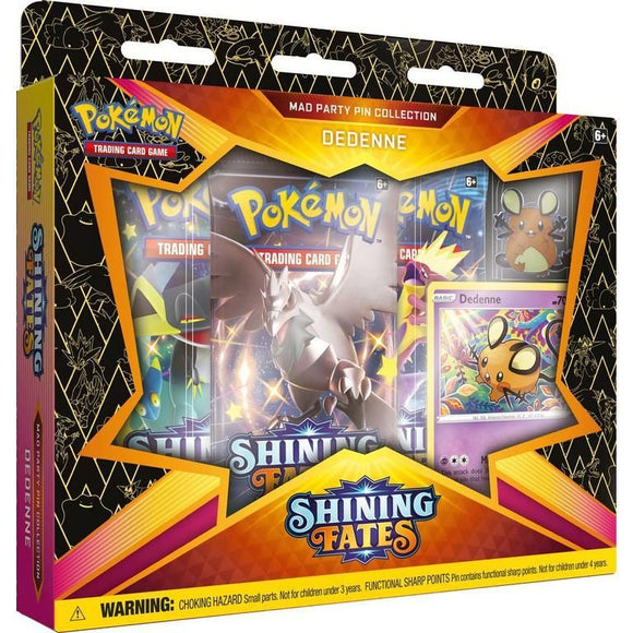 Pokemon TCG Shining Fates Mad Party Pin Collection - Dedenne