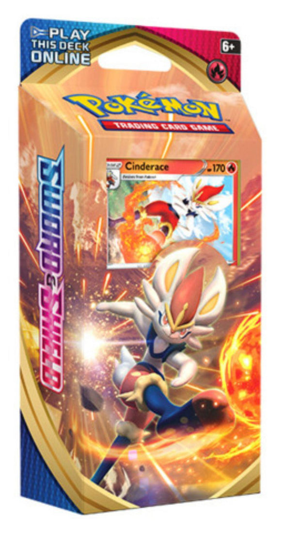 Pokemon TCG Sword & Shield Cinderace Theme Deck