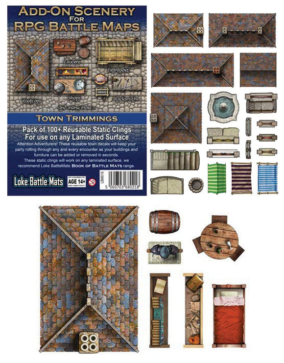 RPG Battle Mats Add-On Scenery Town Trimmings