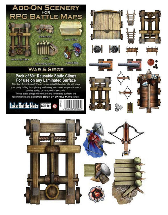 RPG Battle Mats Add-On Scenery War & Siege