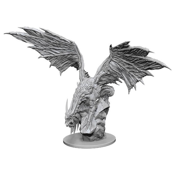 Pathfinder Deep Cuts Unpainted Miniature Silver Dragon (90192)