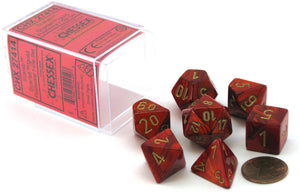 Chessex Scarab Scarlet/Gold 7ct Polyhedral Set (27414)
