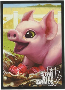 Star City Games Standard Card Game Sleeves 80ct Creature Collection Piglet
