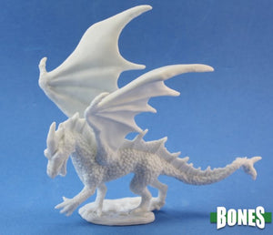 Reaper Miniatures Bones Young Fire Dragon (77026)