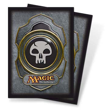 Ultra Pro Standard Card Game Sleeves 80ct Magic the Gathering Mana v3 Black (82454)