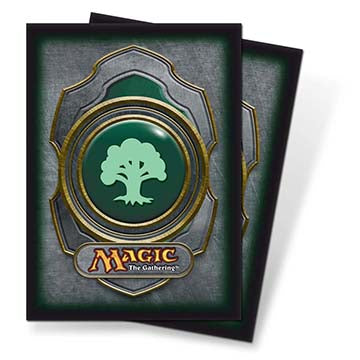 Ultra Pro Standard Card Game Sleeves 80ct Magic the Gathering Mana v3 Green (82455)