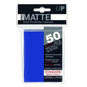 Ultra Pro Standard Card Game Sleeves 50ct Pro-Matte Blue (82653)