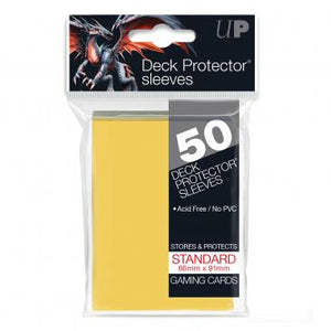 Ultra Pro Standard Card Game Sleeves 50ct Yellow (82675)