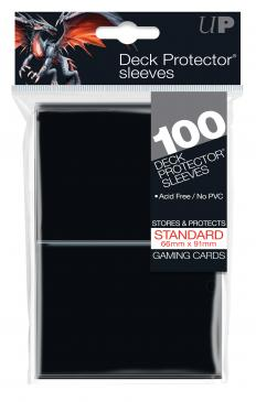 Ultra Pro Standard Card Game Sleeves 100ct Black (82691)