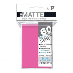 Ultra Pro Small Card Game Sleeves 60ct Pro-Matte Bright Pink (84148)
