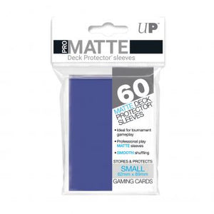 Ultra Pro Small Card Game Sleeves 60ct Pro-Matte Blue (84264)