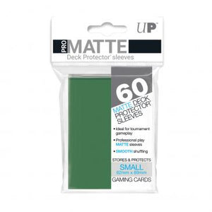 Ultra Pro Small Card Game Sleeves 60ct Pro-Matte Green (84265)