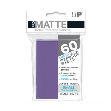 Ultra Pro Small Card Game Sleeves 60ct Pro-Matte Purple (84269)