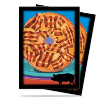 Ultra Pro Standard Card Game Sleeves 50ct Foodie Bacon Donut (84323)