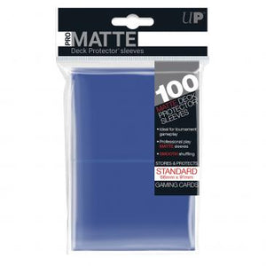Ultra Pro Standard Card Game Sleeves 100ct Pro-Matte Blue (84514)