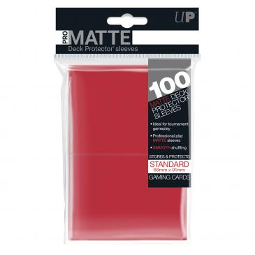 Ultra Pro Standard Card Game Sleeves 100ct Pro-Matte Red (84516)