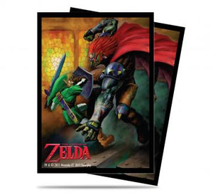 Ultra Pro Standard Card Game Sleeves 65ct The Legend of Zelda Link and Gannon Battle (85227)