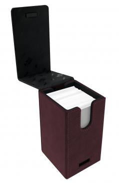 Ultra Pro Alcove Tower Flip Deck Box Suede Collection Ruby (85764)