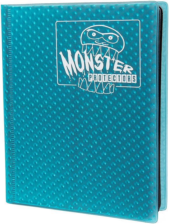 Monster Binder 4pkt Holofoil Aqua Blue