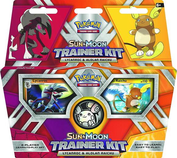 Pokemon TCG Sun & Moon Trainer Kit - Lycanroc & Alolan Raichu