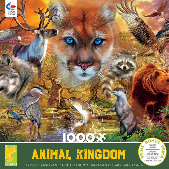 Animal Kingdom Mammals 1000pc Puzzle