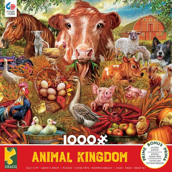 Animal Kingdom Farm 1000pc Puzzle