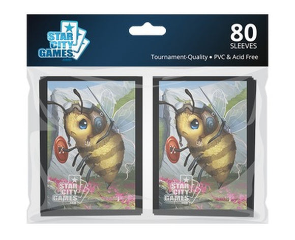 Star City Games Standard Card Game Sleeves 80ct Creature Collection Bee