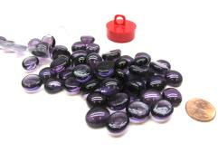 Chessex Violet Glass Stones in Tube (01127)