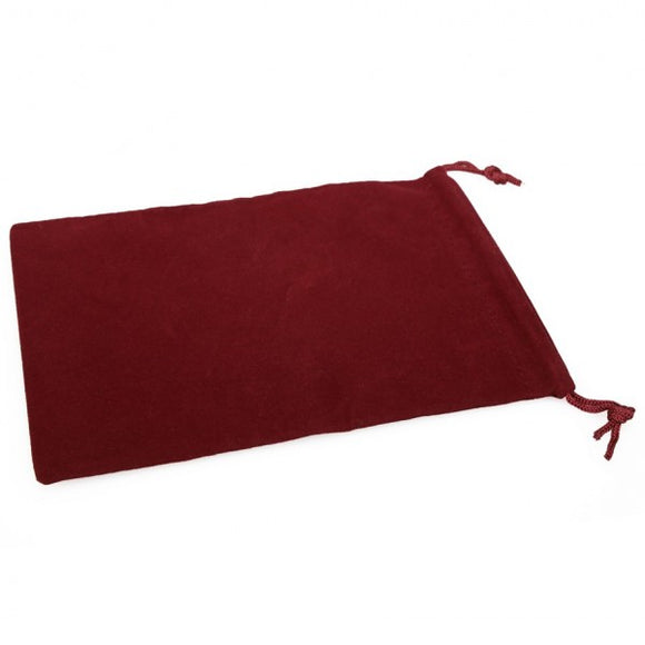 Chessex Velour Cloth Dice Bag Large Burgundy (02393)