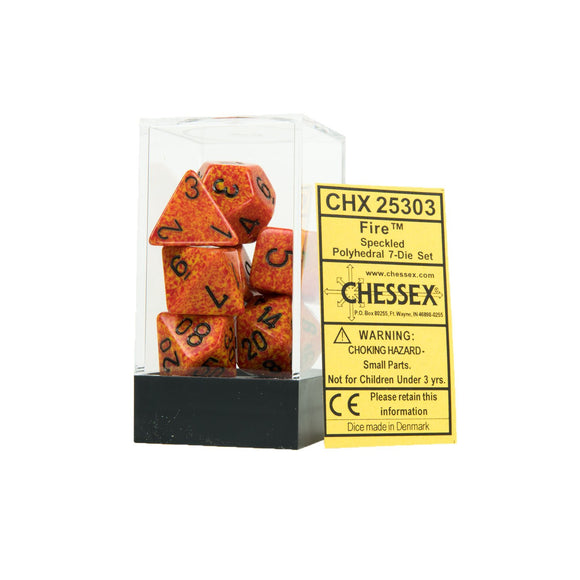 Chessex Speckled Fire 7ct Polyhedral Set (25303)