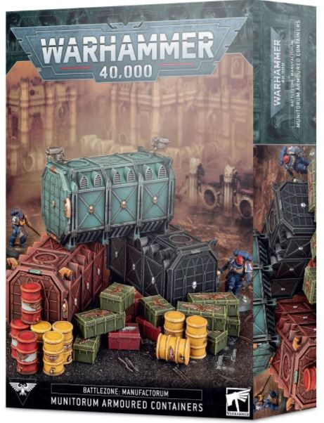 Warhammer 40,000 Battlezone Manufactorum Munitorum Armoured Containers