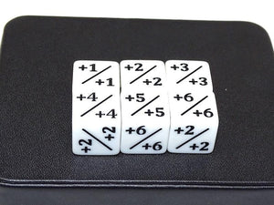 +1 Counter D6 White