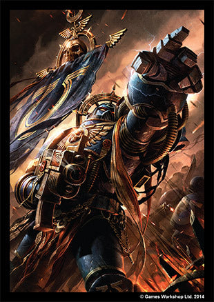 Fantasy Flight Standard Card Game Sleeves 50ct Warhammer Space Marines