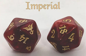 Black Oak Workshop Imperial Dragon Red/Gold Single D20