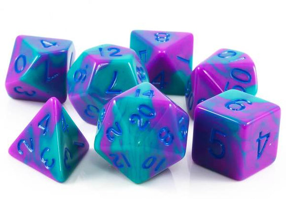 Metallic Dice Games Purple-Teal/Blue 7ct Polyhedral Dice Set