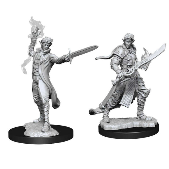 Pathfinder Deep Cuts Unpainted Miniatures: Male Elf Magus