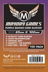 Mayday Games Board Game Sleeves 100ct 65x100mm 7 Wonders Purple