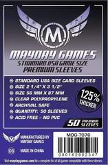 Mayday Games Board Game Sleeves 50ct Premium 56x87mm Standard American