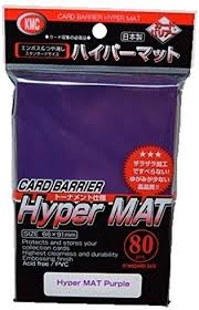 KMC Standard Card Sleeves 80ct Hyper Matte Purple