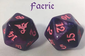 Black Oak Workshop Dragon Faerie Purple/Pink Single D20