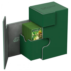 Ultimate Guard Flip'n'Tray 80+ XenoSkin Deck Box Green (10225)