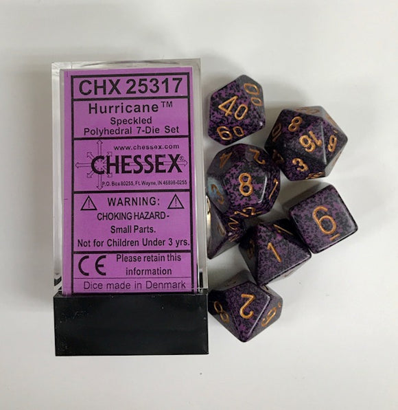 Chessex Speckled Hurricane 7ct Polyhedral Set (25317)